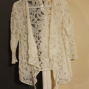 Open lacework cardigan size 2